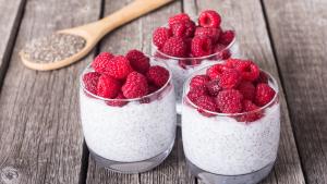 Chia Pudding als gesunder, kalorienarmer Snack